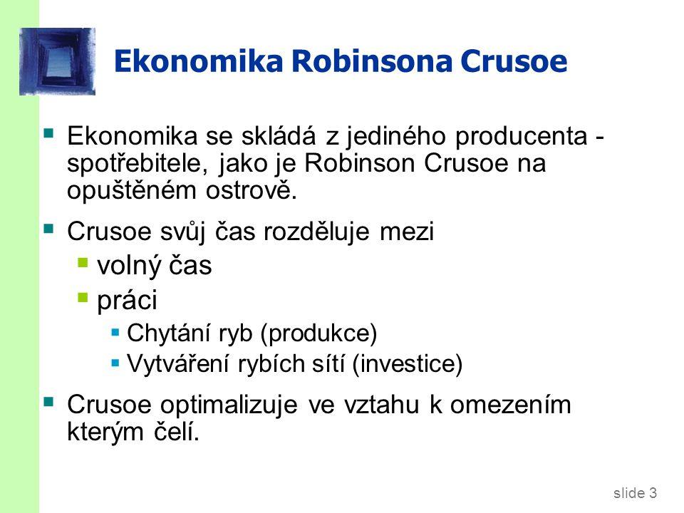 """Šoky v """"Crusoe ostrovní ekonomice"""