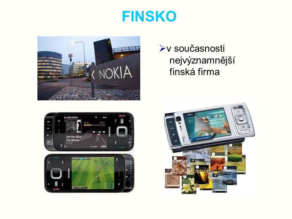 FINSKO v současnosti nejvýznamnější finská firma