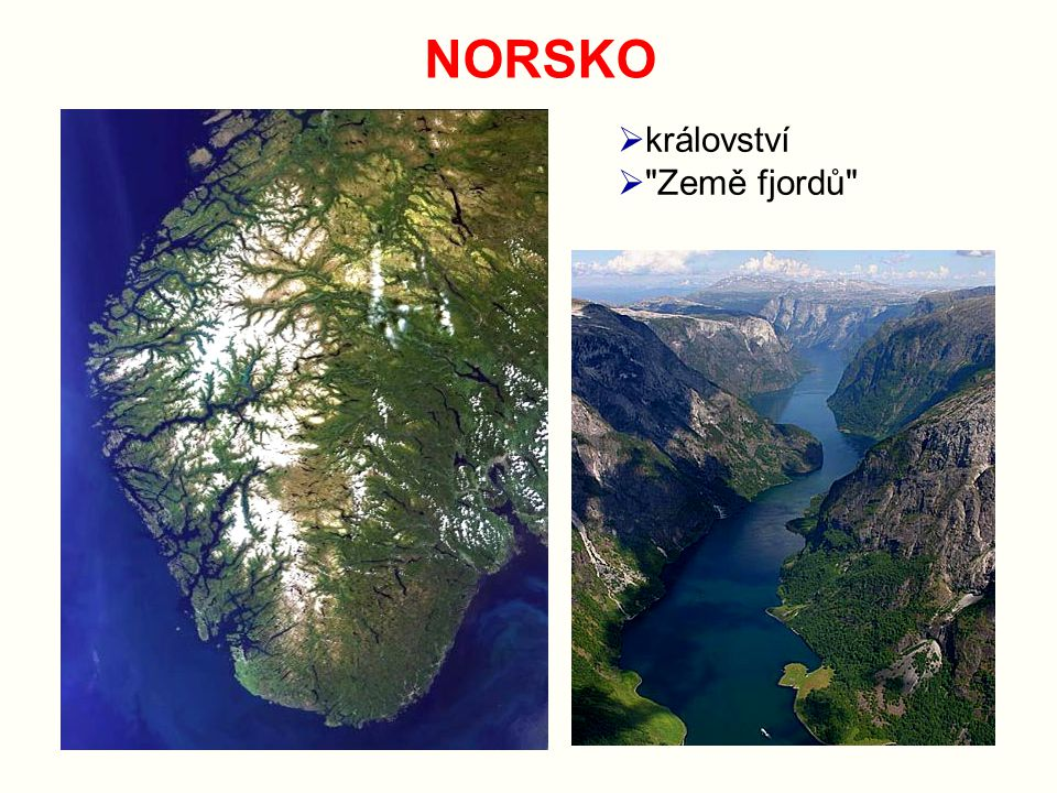 NORSKO království Země fjordů
