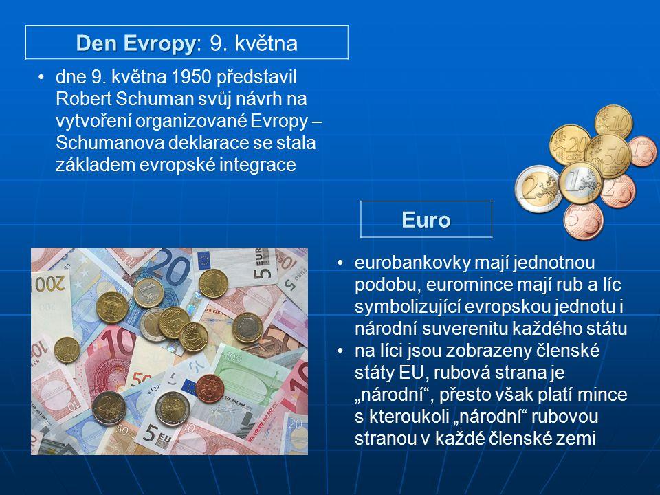 Den Evropy: 9. května Euro