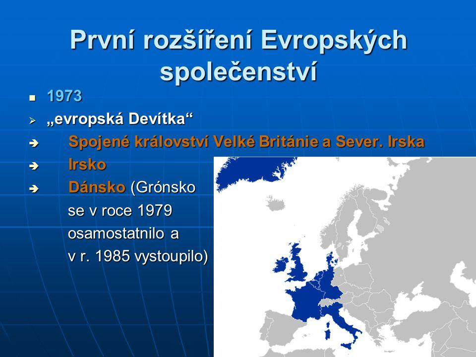 První rozšíření Evropských společenství