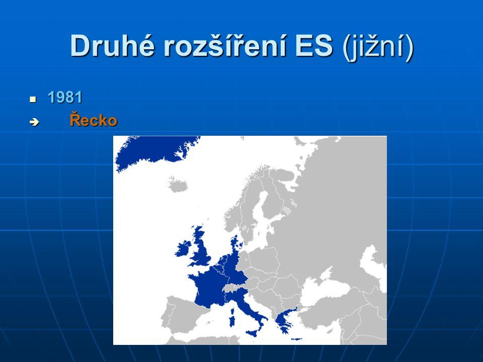 Druhé rozšíření ES (jižní)