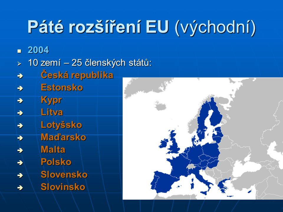 Páté rozšíření EU (východní)