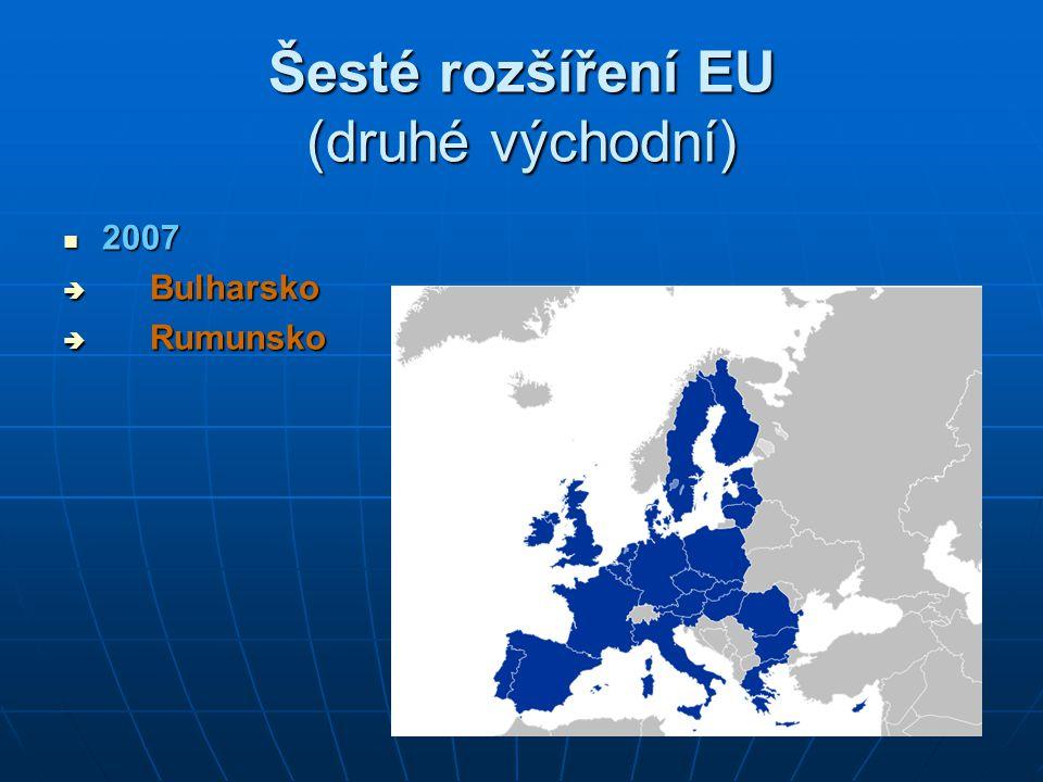 Šesté rozšíření EU (druhé východní)