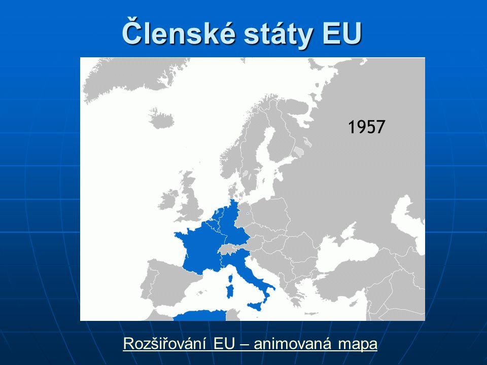 Členské státy EU Rozšiřování EU – animovaná mapa