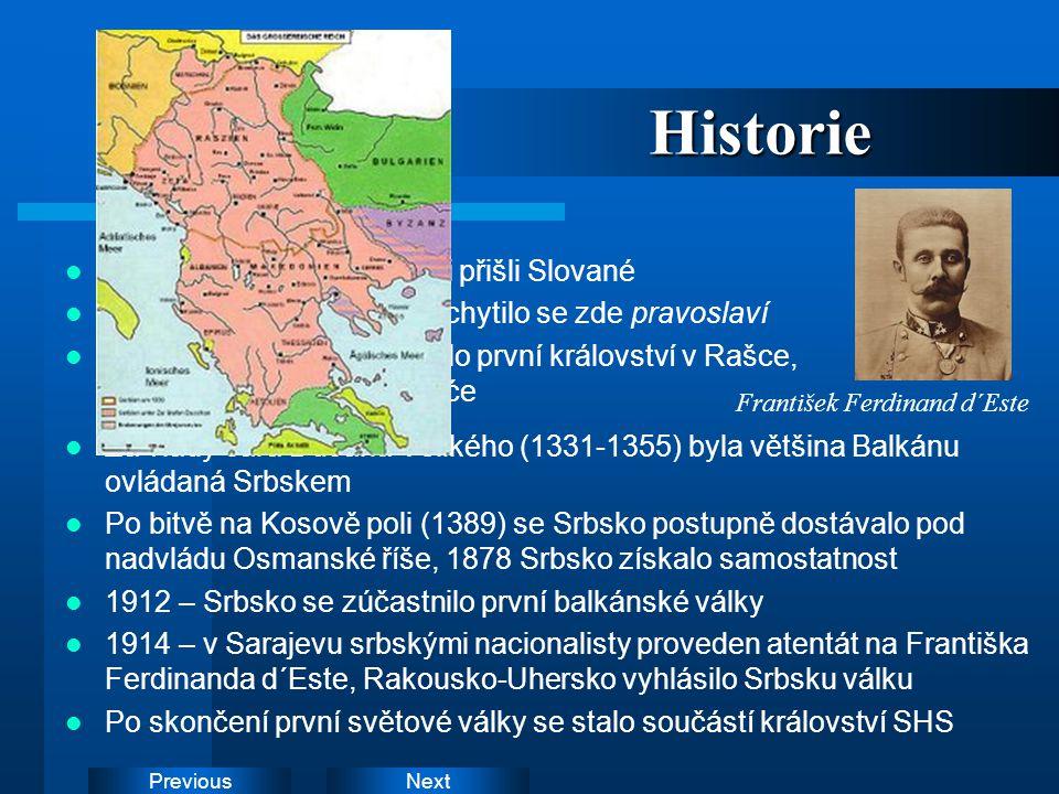 Historie Během 6. století od oblasti přišli Slované