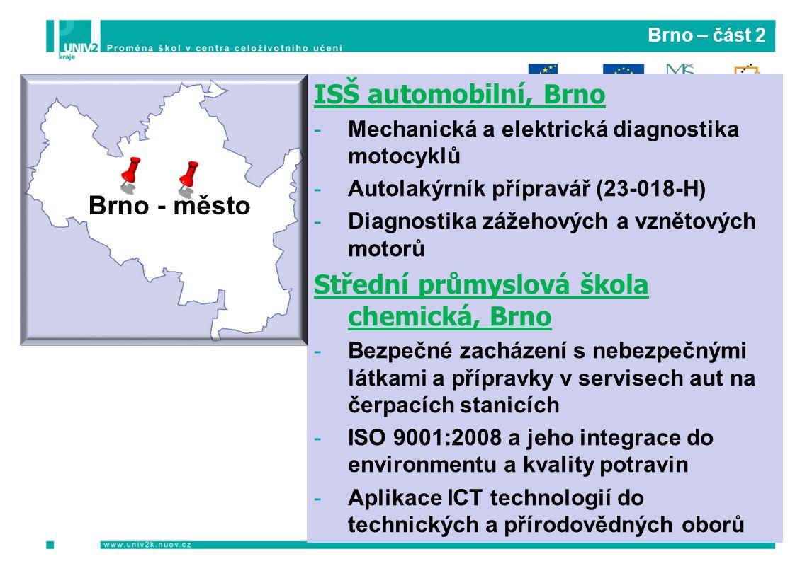 Střední průmyslová škola chemická, Brno Brno - město
