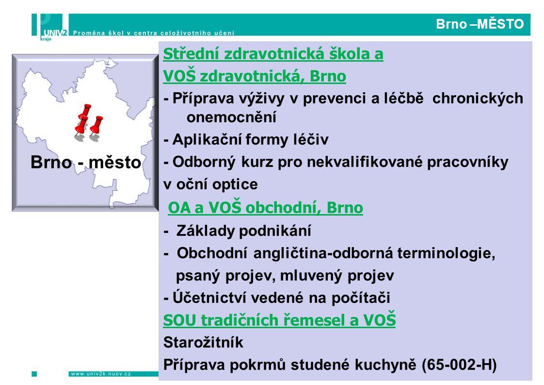 Brno - město OA a VOŠ obchodní, Brno Střední zdravotnická škola a