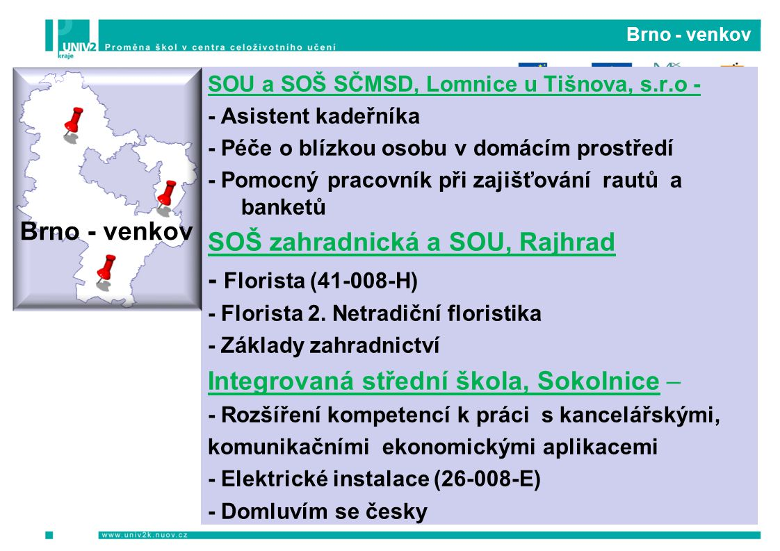 SOŠ zahradnická a SOU, Rajhrad - Florista (41-008-H)