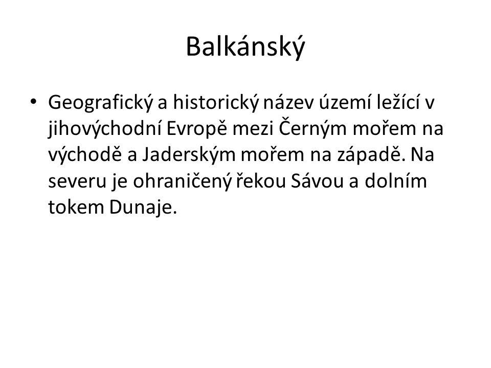Balkánský