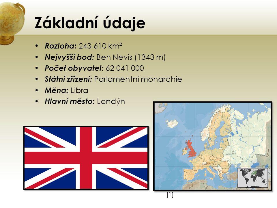 Základní údaje Rozloha: 243 610 km² Nejvyšší bod: Ben Nevis (1343 m)