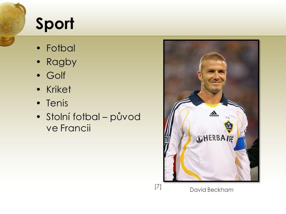 Sport Fotbal Ragby Golf Kriket Tenis Stolní fotbal – původ ve Francii