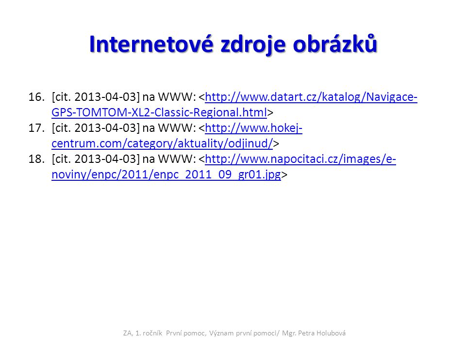 Internetové zdroje obrázků