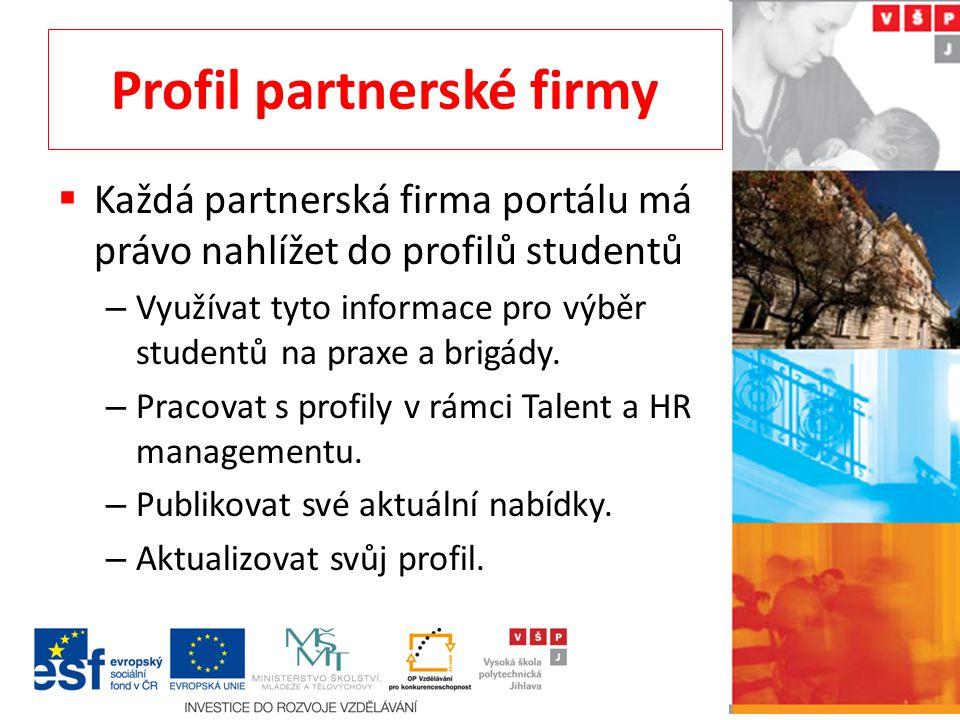 Profil partnerské firmy