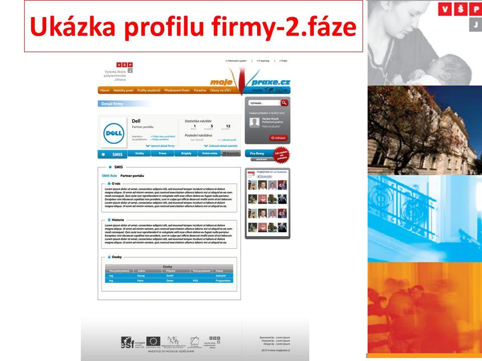 Ukázka profilu firmy-2.fáze