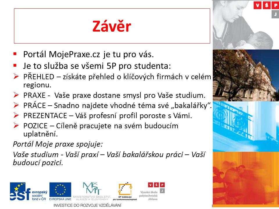 Závěr Portál MojePraxe.cz je tu pro vás.