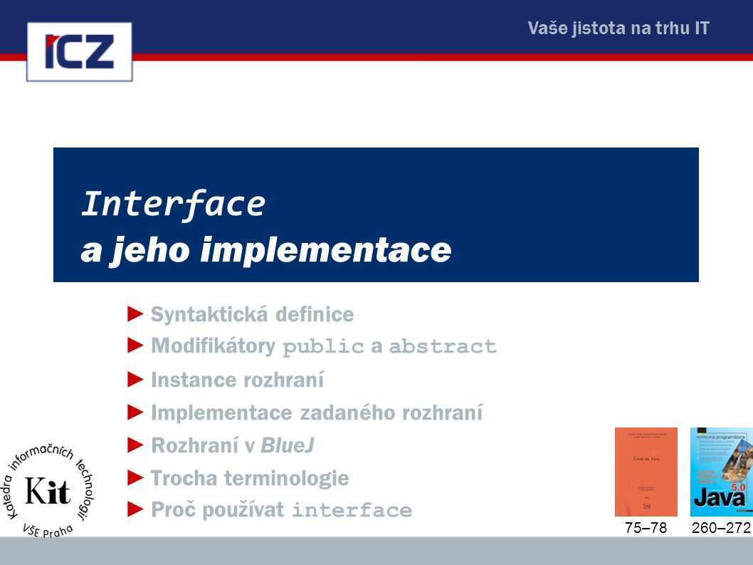 Interface a jeho implementace