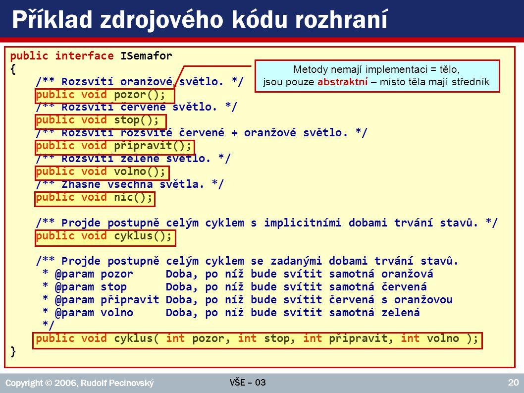 Příklad zdrojového kódu rozhraní
