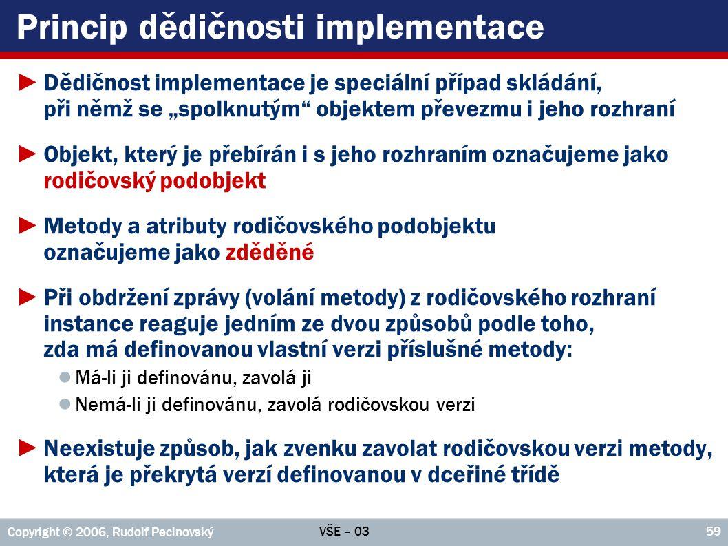 Princip dědičnosti implementace