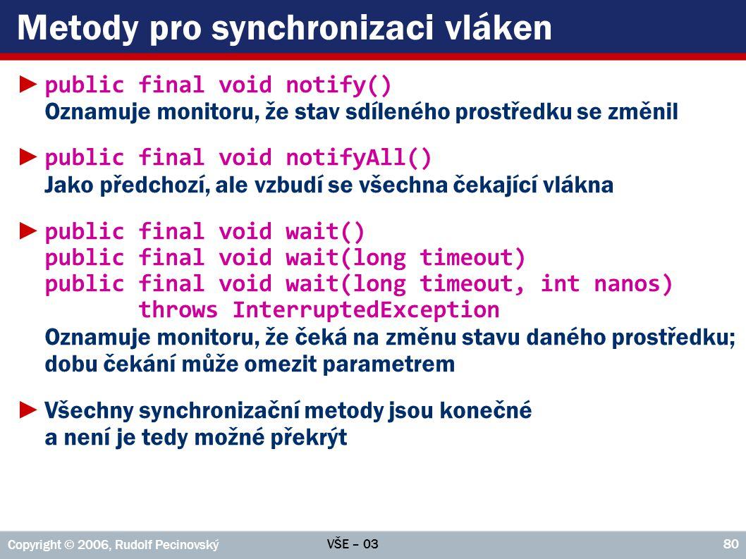 Metody pro synchronizaci vláken