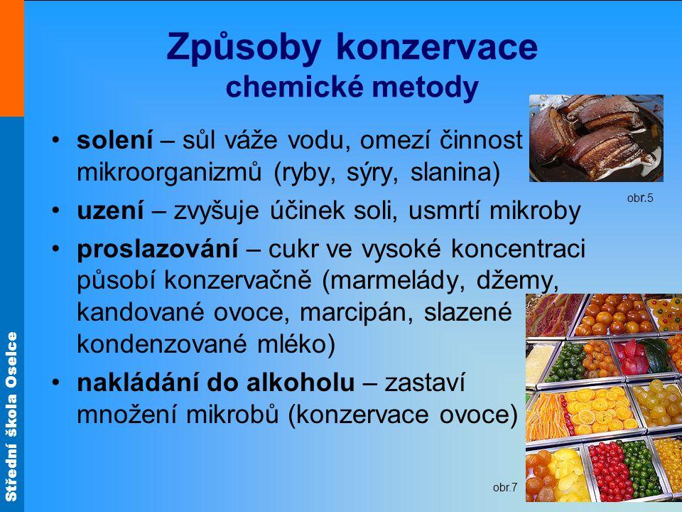 Způsoby konzervace chemické metody