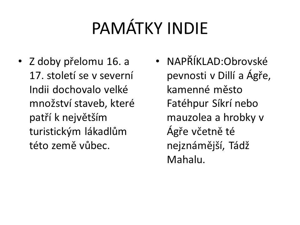 PAMÁTKY INDIE