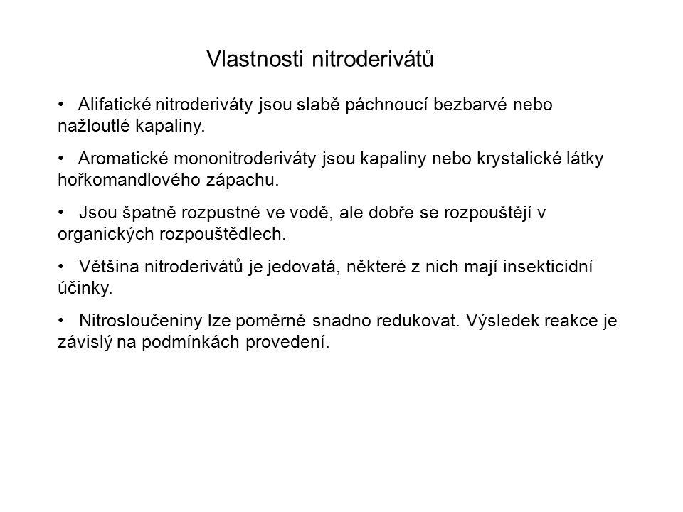 Vlastnosti nitroderivátů