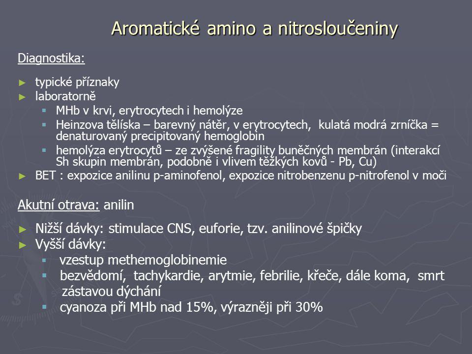 Aromatické amino a nitrosloučeniny