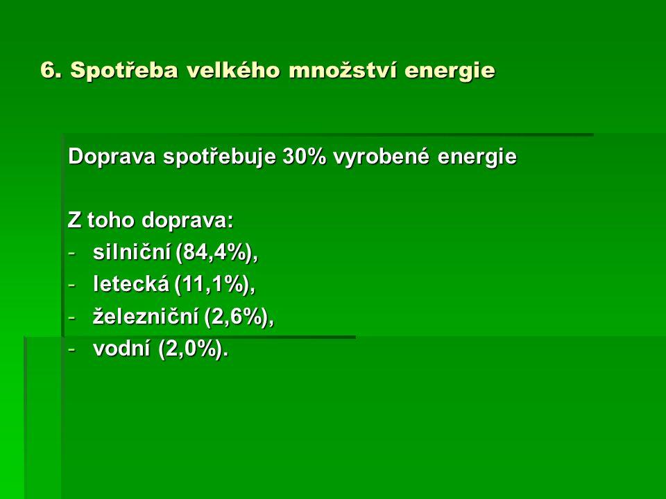 6. Spotřeba velkého množství energie