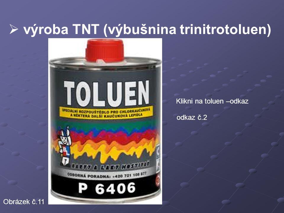 výroba TNT (výbušnina trinitrotoluen)