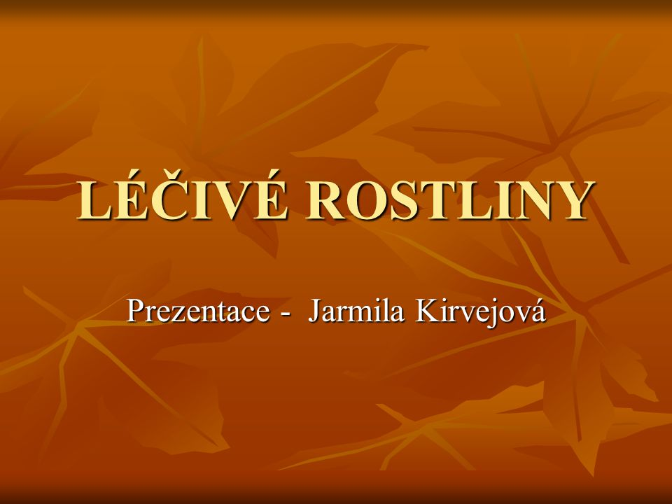 Prezentace - Jarmila Kirvejová