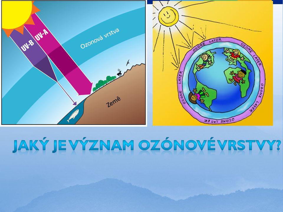 Jaký je význam ozónové vrstvy
