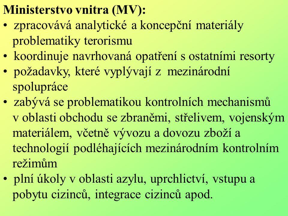 Ministerstvo vnitra (MV):