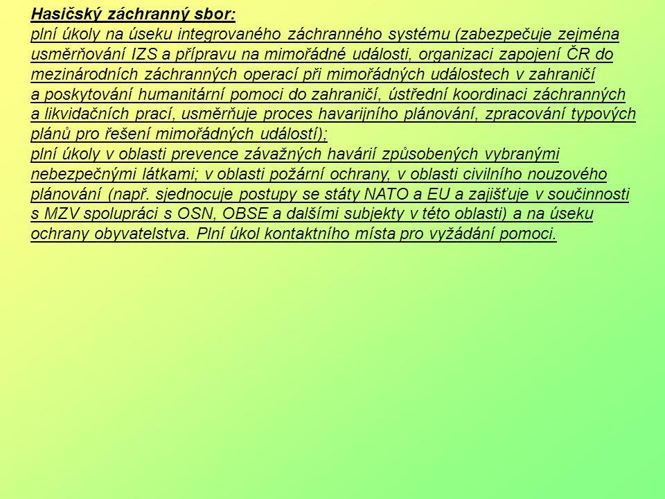 Hasičský záchranný sbor: