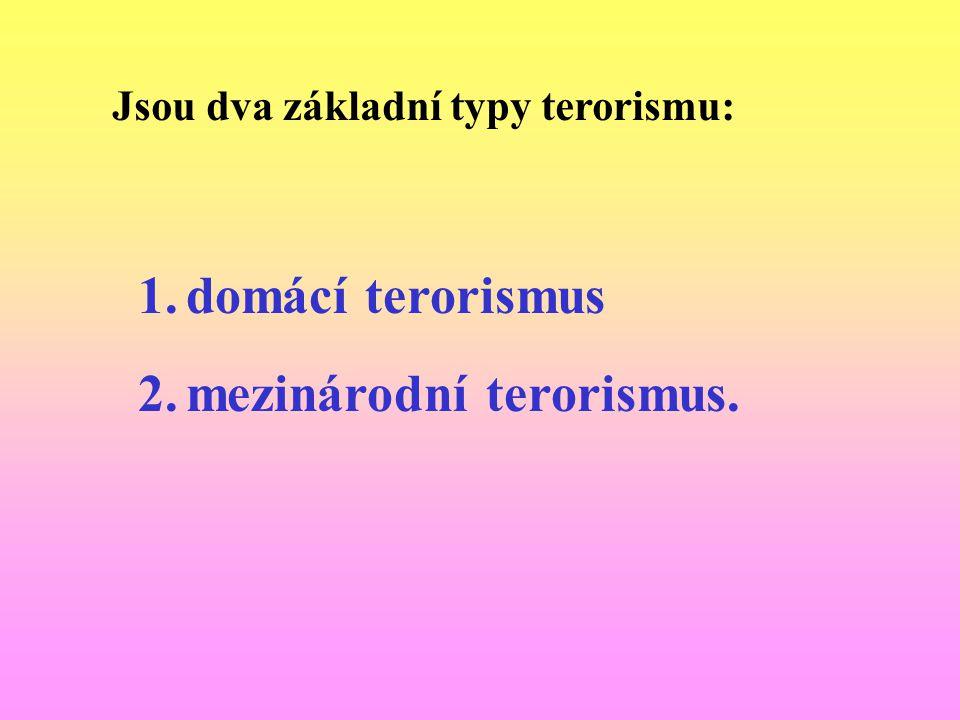 mezinárodní terorismus.