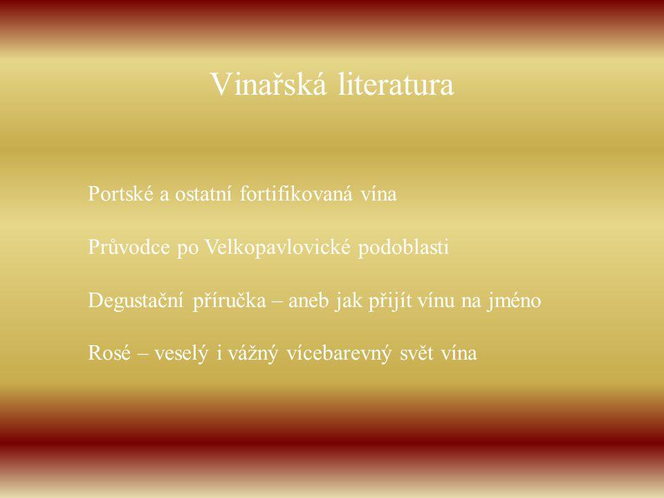 Vinařská literatura Portské a ostatní fortifikovaná vína