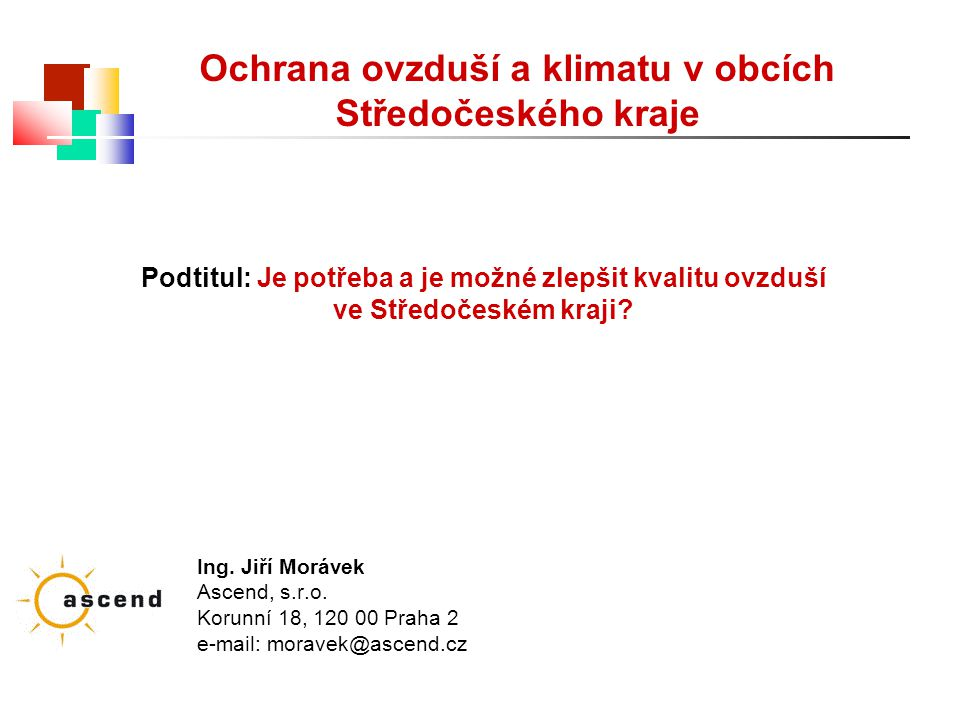 Ochrana ovzduší a klimatu v obcích Středočeského kraje