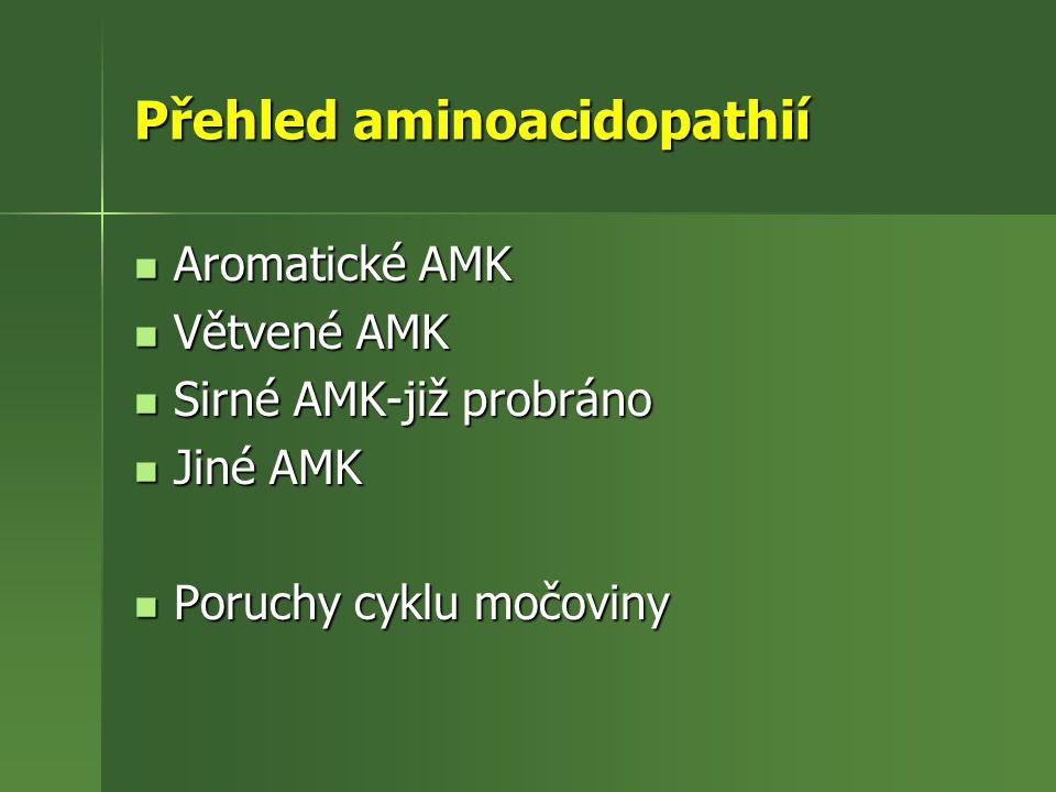 Přehled aminoacidopathií