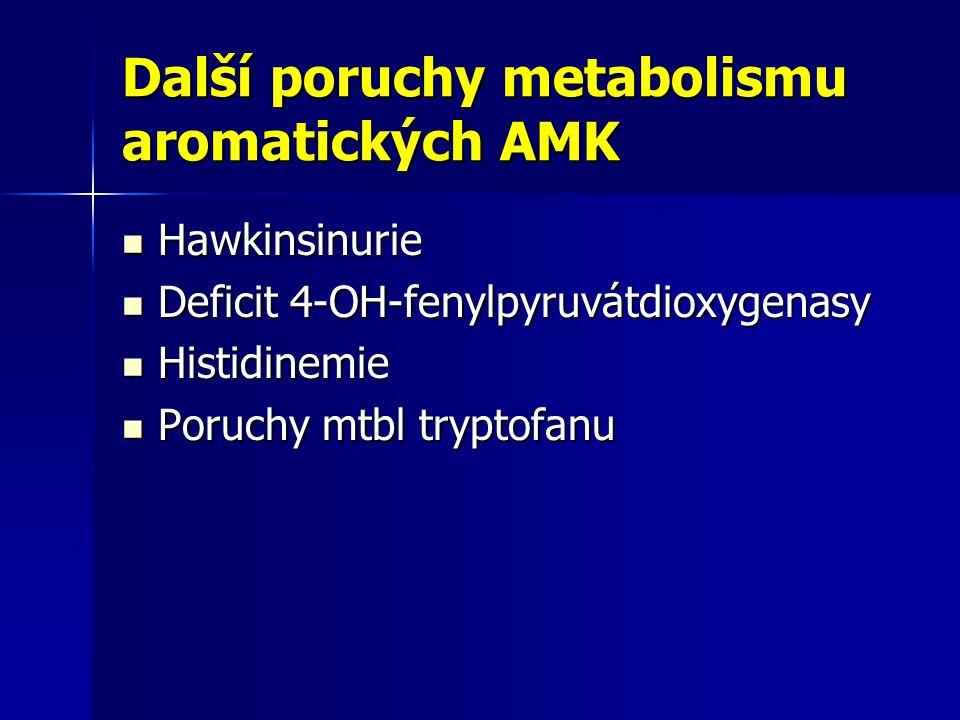 Další poruchy metabolismu aromatických AMK