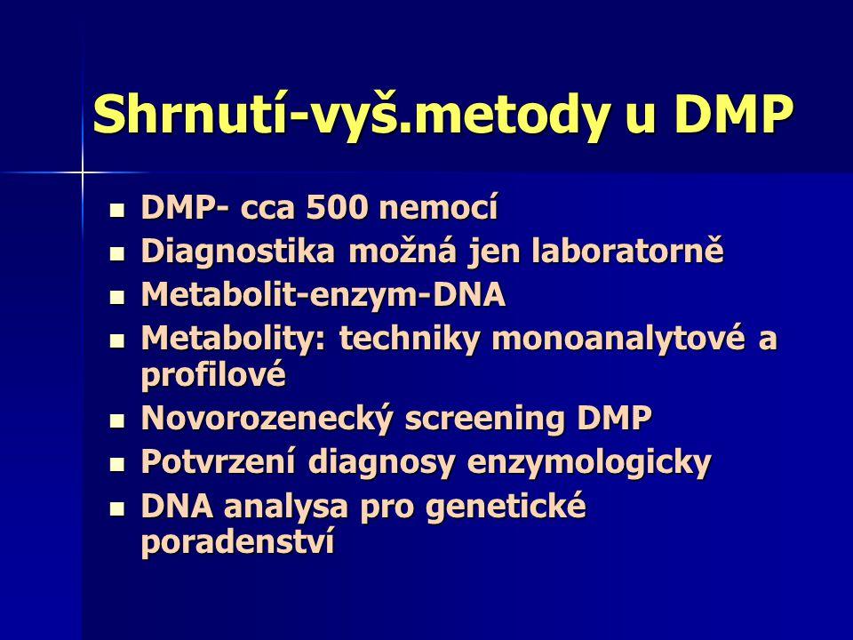 Shrnutí-vyš.metody u DMP