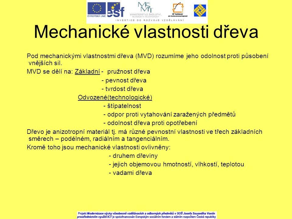 Mechanické vlastnosti dřeva