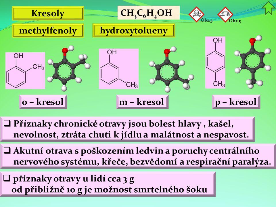 Kresoly methylfenoly hydroxytolueny