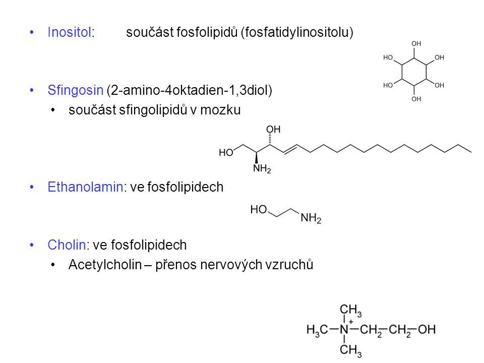 Inositol: součást fosfolipidů (fosfatidylinositolu)