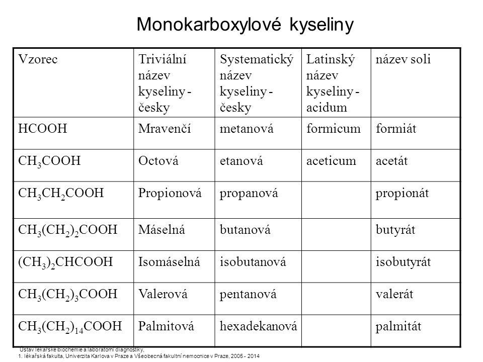 Monokarboxylové kyseliny