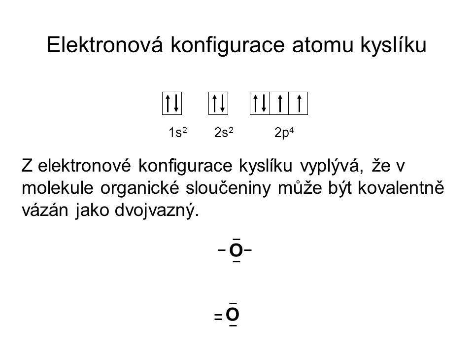Elektronová konfigurace atomu kyslíku