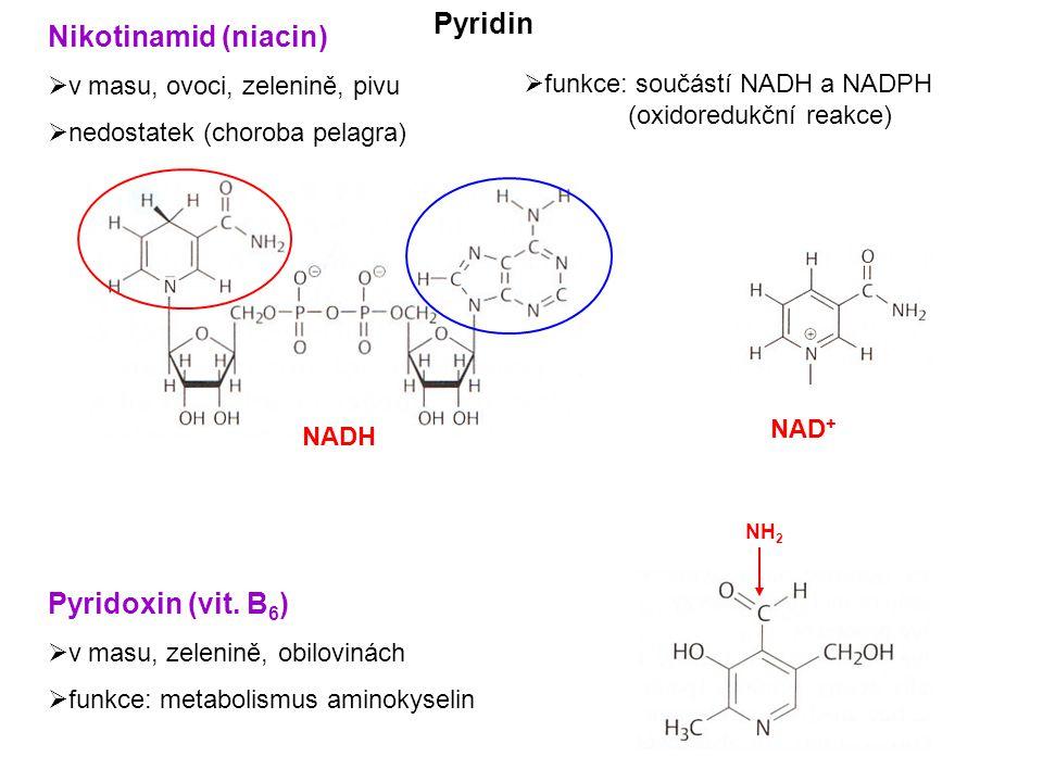 Pyridin Nikotinamid (niacin) Pyridoxin (vit. B6)