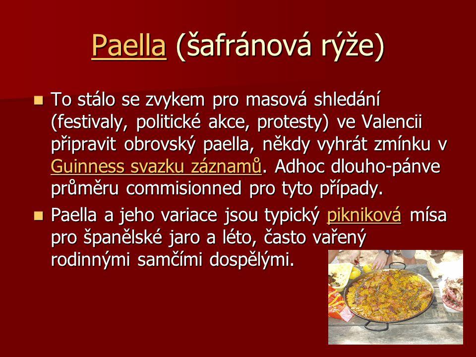 Paella (šafránová rýže)