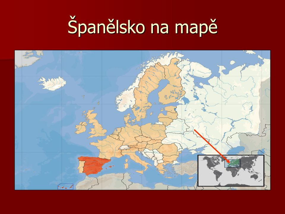 Španělsko na mapě