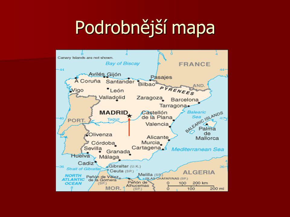 Podrobnější mapa