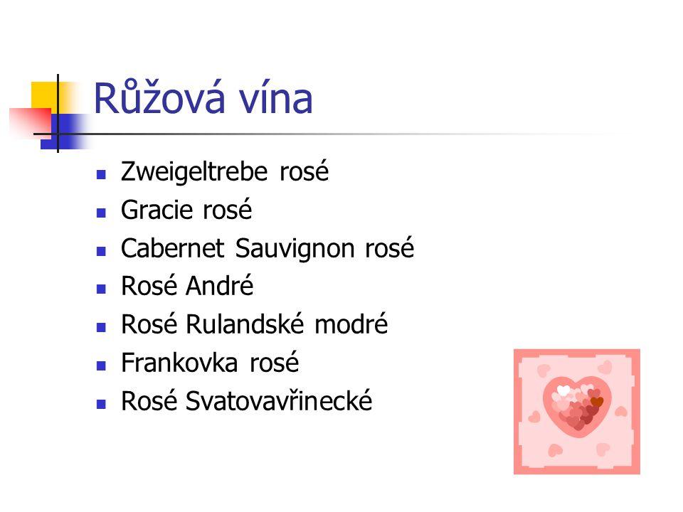 Růžová vína Zweigeltrebe rosé Gracie rosé Cabernet Sauvignon rosé